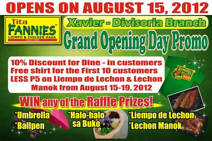 New Tita Fannies Branch Open In CDO, Tita Fannies Branch Open In CDO, Tita Fannies CDO, where to eat CDO, tita fannies cdo location, cdo guide, the Grand opening of Tita Fannies,the heart of Asia Cagayan de Oro, Cagayan de oro heart of Asia