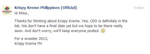Krispy Kreme Cagayan de Oro, Krispy Kreme Philippines, Krispy Kreme, Krispy Kreme CDO, Krispy Kreme CDO Guide, CDO Guide