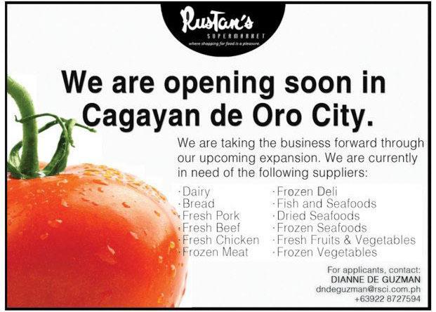 first Rustan's in the Island of Mindanao, Rustan's Cagayan de Oro, cdo guideX Rustan's Cagayan de Oro store