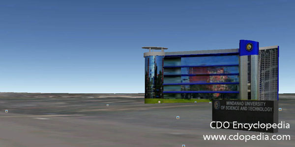 CDO Encyclopedia, Mindanao University of Science and Technology, google earthX cdo guide, 3D model, Mindanao University of Science and Technology is now in Google Earth 3D Model