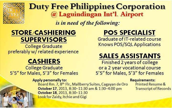duty free cagayan de oro, duty free, Duty Free in Nothern Mindanao, Duty Free Mindanao, Duty Free Davao City,