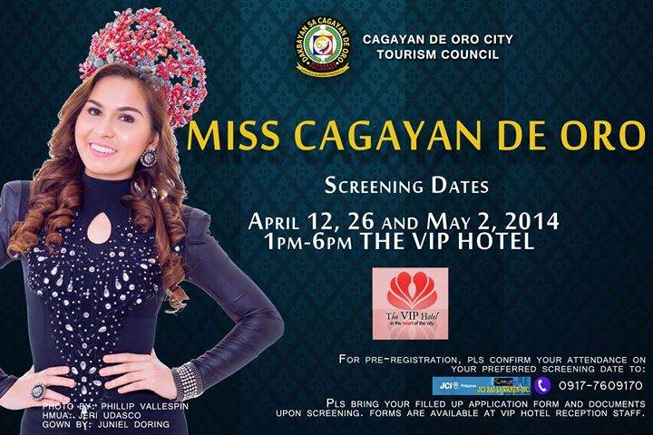 Screening Schedule of Miss Cagayan de Oro 2014, Miss cdo 2014, Miss cagayan de Oro 2014, Miss Cagayan de Oro 2014 winner, qualifications for Miss Cagayan de Oro 2014, searching Miss Cagayan de Oro 2014, searching Miss CDO 2014, searching Miss CDeO 2014