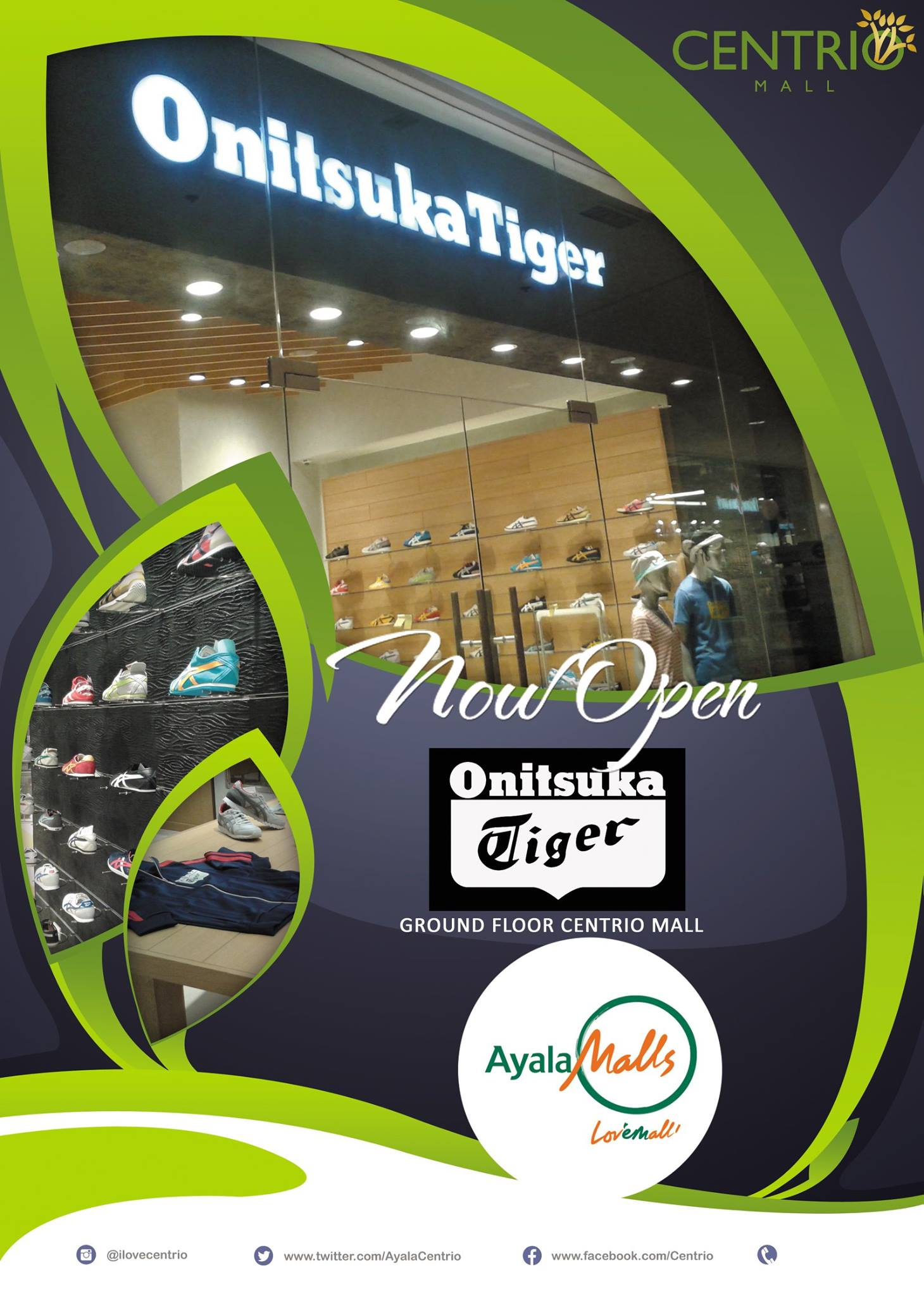 Onitsuka Tiger first store, Onitsuka Tiger, Onitsuka Tiger Cagayan de Oro, Japanese lifestyle brand Cagayan de Oro, Centrio Mall, cdo dev, Cagayan de Oro development