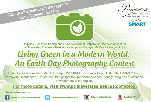Primavera Earth Day Photography Contest, Photography Contest, condominium building in Mindanao, Smart Communication, Hobbyist Photographers, Photographers Enthusiast