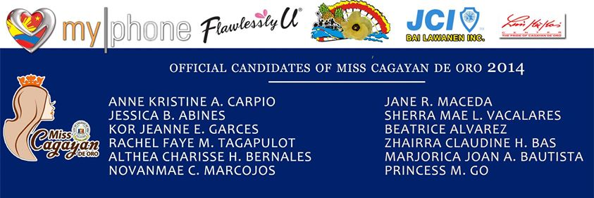 12 official candidates of 2014 Miss Cagayan de Oro, Miss CDO 2014, Miss CDO, 2014 Miss Cagayan de Oro, Miss Cagayan de Oro, screening of candidates for Miss CDO 2014, 12 official candidates