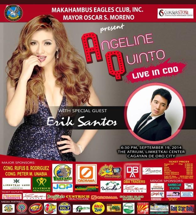Live in CDO Angeline Quinto and Erik Santos