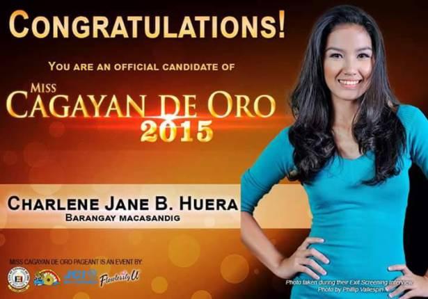 Miss Cagayan de Oro, Miss CDO 2015, Miss Cagayan de Oro 2015, Miss Cagayan de Oro candidates, official candidates of Miss Cagayan de Oro 2015, Miss Cagayan de Oro winner, Miss Cagayan de Oro 2015 schedule, Miss CdeO, Miss Cagayan de Oro talents