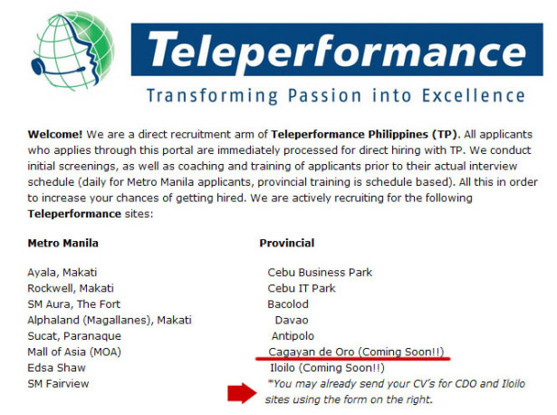Teleperformance, Teleperformance Philippines, Teleperformance Philippines Cagayan de oro, Teleperformance Cagayan de Oro, Teleperformance Philippines call center