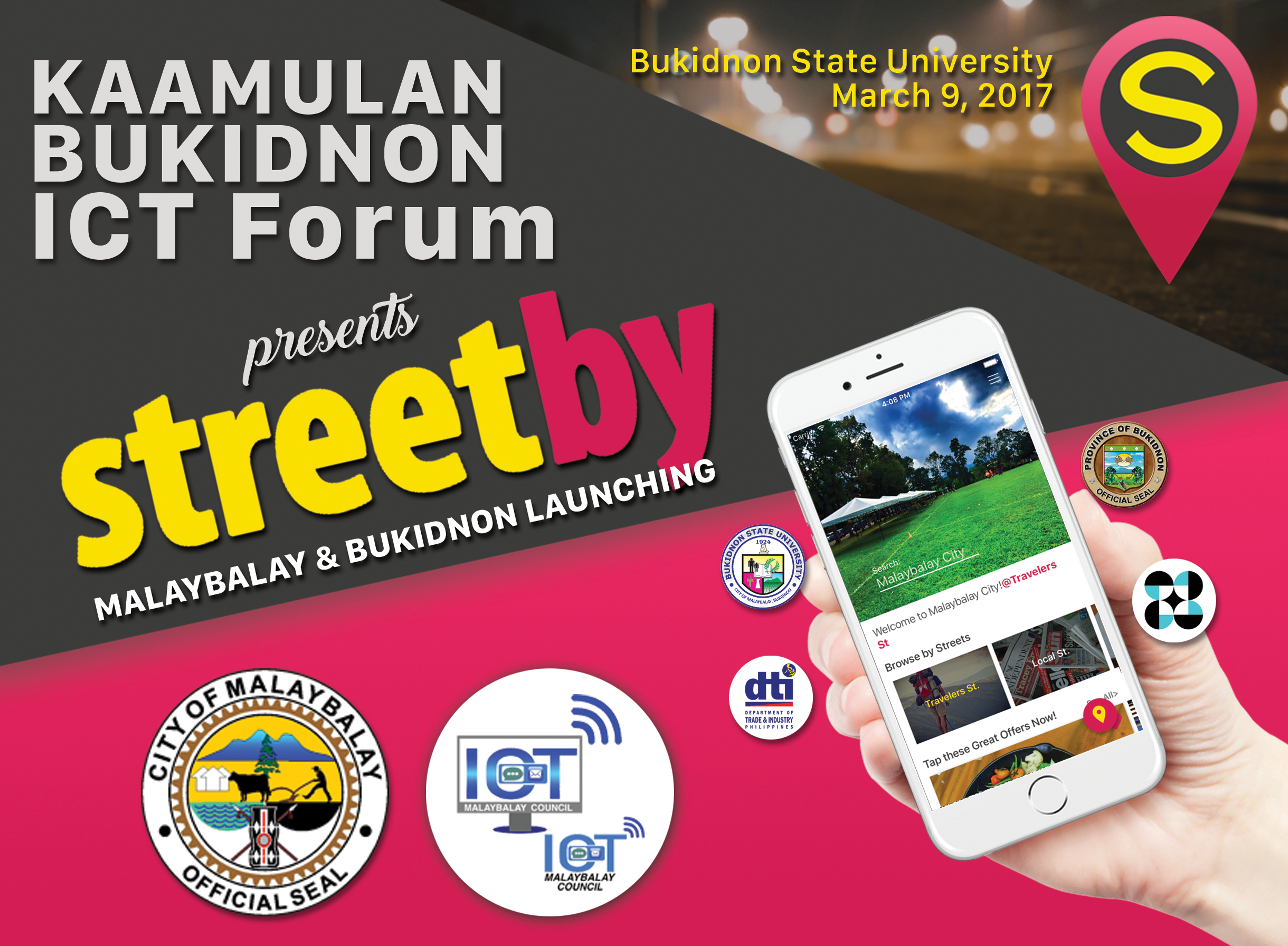 Streetby bukidnon, Oro Mobile App, local mobile app, Malaybalay ICT Council, Agila Innovations
