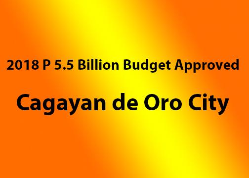 city budget, cagayan de oro city budget, 2018 budget
